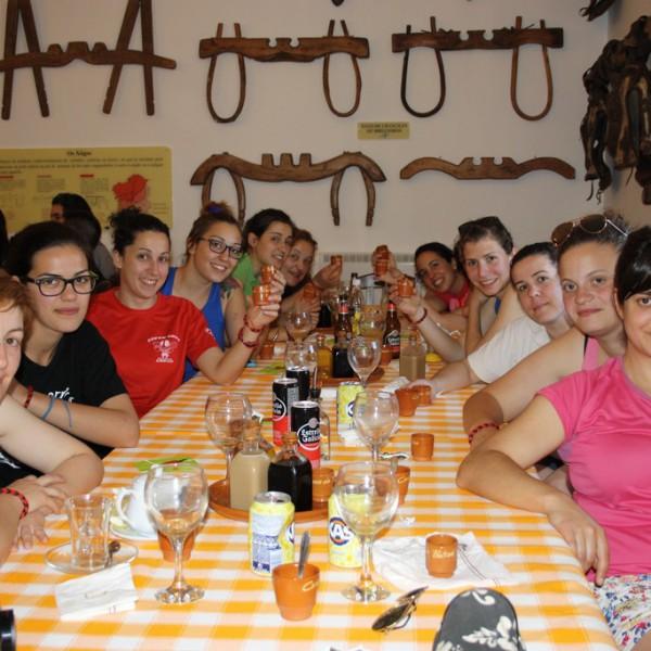 Rugby femenino en el Restaurante Casa do Patrón