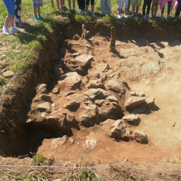 Castro de Doade, una semana de excavación