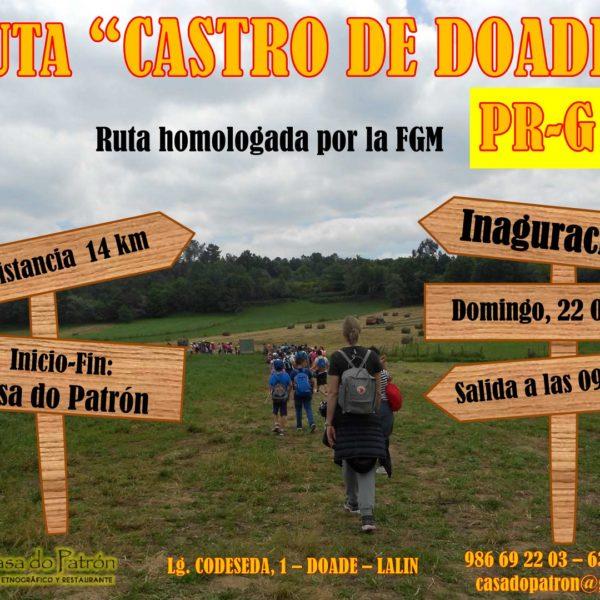 Ruta de senderismo Castro de Doade